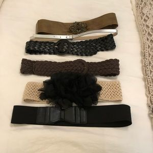 Accessories - Lot of 6 Ladies Fashion Belts